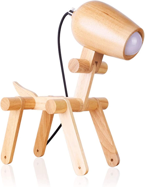 Raelf Personalisierte Massivholz Schreibtisch Tischlampe Moderne Einfachheit Desktop Lichter Kindermode Warme Schlafzimmer Nachttischlampe Langlebig und Schnes Dekoratives Schreibtischlicht