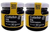 Nortindal Squid Ink/Cuttlefish Ink for Cooking, Black Food Coloring Imported from Spain 90 grams/ 3.2 oz in an Intfeast Box (Pack of 2)