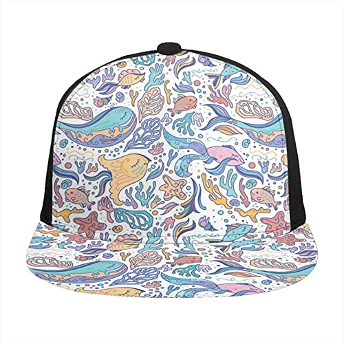Gorra de béisbol unisex impresa plana facturada gorras...
