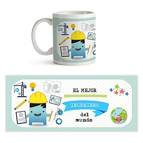 Fotoprix Taza al mejor Ingeniero del mundo | Taza de café para Ingenieros | Taza de desayuno regalo original para Ingeniero