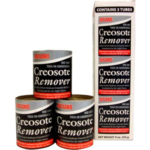 Rutland Products Creosote Remover, 3 oz. Toss-in Canister (3-Pack), Beige, 3 Count