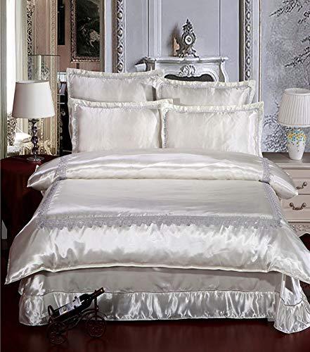 QYZLT Sommer nackt Schlaf Seide Sommer kühlen Bettbezug Seidensatin Bettwäsche Pflegebetten einfach zu pflegen,k7,78