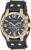 Akribos XXIV Men's Chronograph Watch - 3 Subdials, Seconds, Minutes and GMT plus Date Window on...