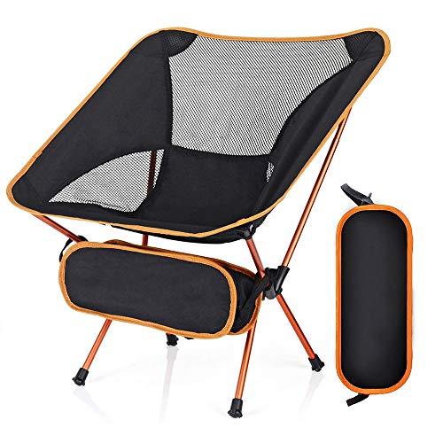 Lambony Silla de Camping Plegable, Ligera y Sólida con Bolsa de Transporte, para Senderismo, Pescado, Barbacoa, Pícnic, Resistente, Capacidad 150 kg