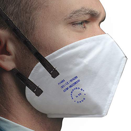 Allextreme PI-N95 DRDO Approved Disposable Face Mask with Breathing Valve for Men...