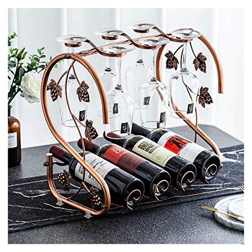 Botellero de Vino Estante de vino, organizadores de vino Mostrar soporte de vidrio Botella de metal Rack Stand Botella de almacenamiento Organizador de vino Rack de vino Colección de vino para organiz