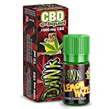Vollspektrum CBD E-Liquid Lemon Haze 10ml, 1000mg CBD | 60VG / 40 PG | kann gegen Schmerzen, Entzündung & Stress helfen - Vape Liquid ohne Nikotin -