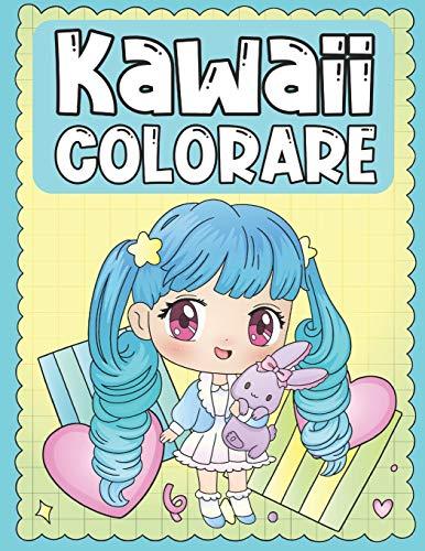 Colorare Kawaii: Libro da Colorare dei Personaggi Kawaii Troppo Carino e Adorabile per i Bambini 3-9 Anni