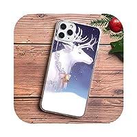 かわいいクリスマスエルク新年の贈り物サンタクロース電話ケースFor iPhone11 pro max 4S 5S SE 6s 7 8 plus X XR XS MAXTPUシリコンケース-TPU D1461-For iPhone XS MAX