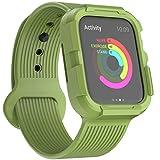 KUMARS Coque Apple Watch 44mm Serie 5 Serie 4 Bracelet avec Coque,Coque de Protection Robuste intégré Sports extrêmes pour...