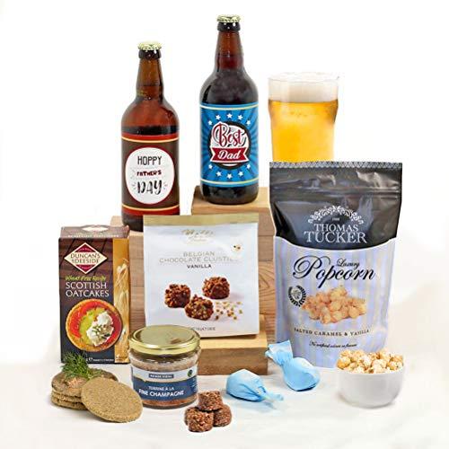 Hay Hampers Best Dad - Fun Pun Dad's Beer & Nibbles Hamper Gift For Men