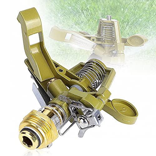 CYSJ Lawn Sprinkler Irrigatore Garden Irrigatore a 360 Gradi Sistema di irrigazione agricolo, Irrigazione del Prato Regolabile Ugello a bilanciere in Metallo Filettatura Maschio了