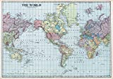 Wolfenthal Vintage Weltkarte «The World» DIN A2 Poster,