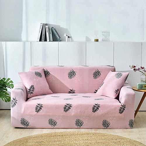 HFTYCC Funda para sofá de 1 a 4 plazas - Fundas para sillón de Brazo de Spandex de poliéster elástico Estampado - Fundas para sofá de Ajuste Universal- 1 Plaza - 90-140cm_Pink Plaid