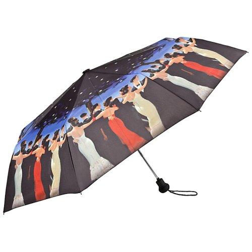 VON LILIENFELD Regenschirm Taschenschirm Auf-Automatik Stabil Leicht Damen Herren Kunst Motiv Jack Vettriano Walzer