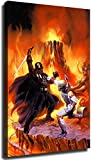 Star Wars Poster Darth Moore Character,Darth Vader VS Boba Fett Movie Wall Poster Art Canvas HD Print Home Living Room Bedroom Wall Decor Mural for Boys,Unframed (3,12x18inch)