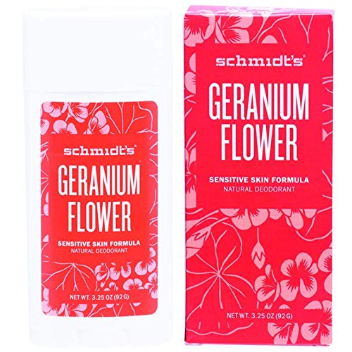 Price comparison product image Schmidt's Sensitive Skin Deodorant,  Geranium Flower,  3.25 oz