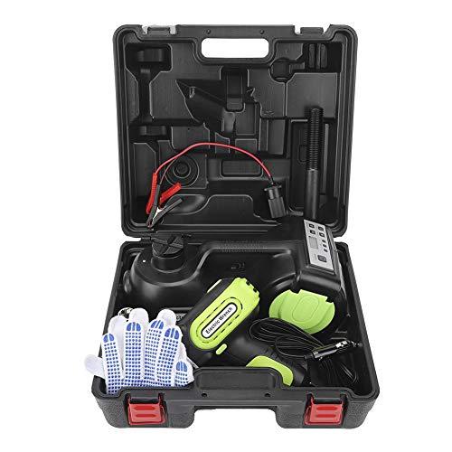 Presa elettrica per rimorchio, Fydun DC12V 5T 3 in 1 in lega di acciaio per auto Presa per pavimento elettrica Sollevamento idraulico Set di accessori auto per auto nera (155-450/155-530mm)
