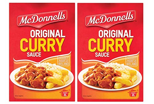 McDonnells Curry Sauce | Premium Quality Spices for Tempting Meal | Made in Ireland | 500g Pack of 2