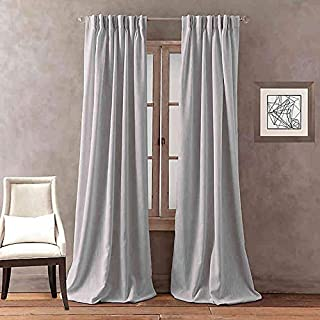Peri Home Dayna Solid 84-Inch Pinch Pleat Window Curtain Panel in Grey