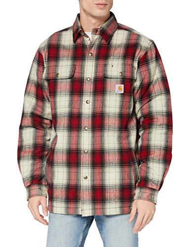 Carhartt Herren Hubbard Sherpa Lined Jac Shirt Jacket, Dark Crimson, XXL