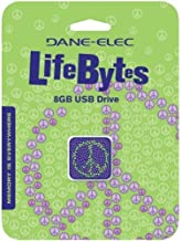 Dane-Elec 8GB USB Lifebytes Flash Drive, Peace (DA-Z08GLBK7-C)