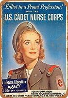 ブリキ看板1944米国士官候補生ナースコースグッズウォールアート