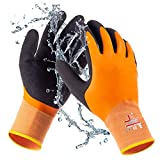 SAFEAT General Waterproof Work Gloves for Men and Women – Flexible, Double Coated Latex, Multipurpose, Sandy Grip Foam Palm. (Extra Large)