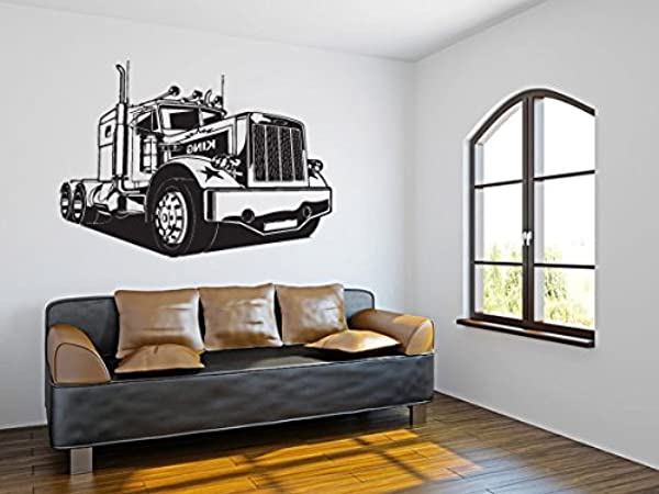 CreativeWallDecals Wall Decal Vinyl Sticker Decals Art Decor Design Bulldozer Excavator Tractor Truck Car Boys Kids Children Mans Living Room Nursery R1249