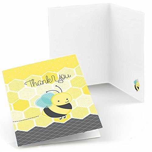Big Dot of Happiness Honey Bee - Baby Shower or Birthday Party Thank You Cards (8 Count)