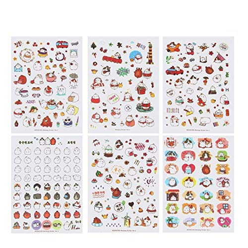 18 Sheets Cute Bunny Rabbit Charactor Sticker Diary Scrap Book Scrapbooking Decor Decoration Lot Korean Stationery(1st&2nd&3rd)