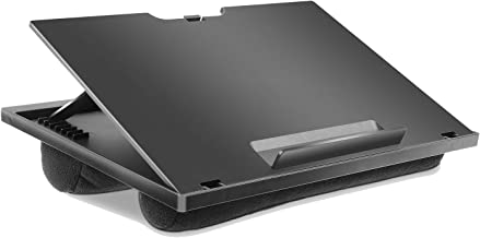 Adjustable Lap Desk – with 8 Adjustable Angles & Dual Cushions Laptop Stand for..