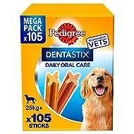 Pedigree DentaStix Daily Dental Chews Large Dog 25kg+ 105 Sticks