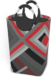 Papier peint-Rouge-Noir Paniers de rangement Panier à linge sale flexible Sac organisateur écologique Sac de tri amovible ...