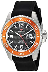 Water resistant up to 200 ATM - 2000 meters - 6500 feet Scratch resistant mineral Quartz Movement Date display