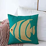 Mengghy Decoración del hogar, fundas de almohada, funda de almohada, funda de almohada, funda de almohada, río pescado, abstracto, agua, naturaleza, acuario, diseño fresco