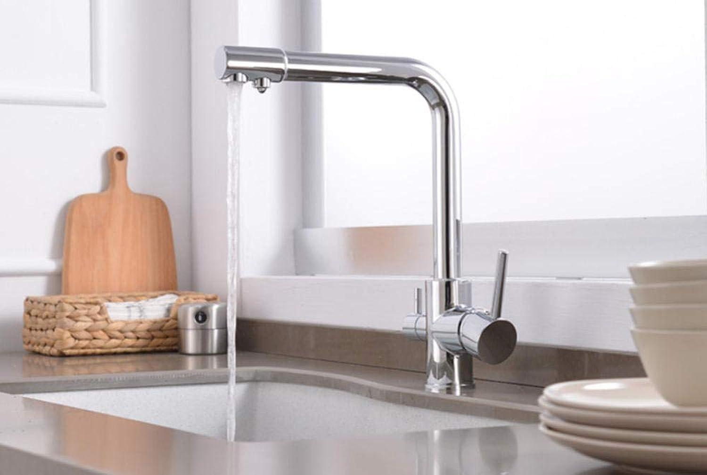 Hiwenr 360 Swivel Messing Küchenarmaturen Deck Montiert Mischbatterie Wasserfilter Mischbatterie Kran Für Die Küche