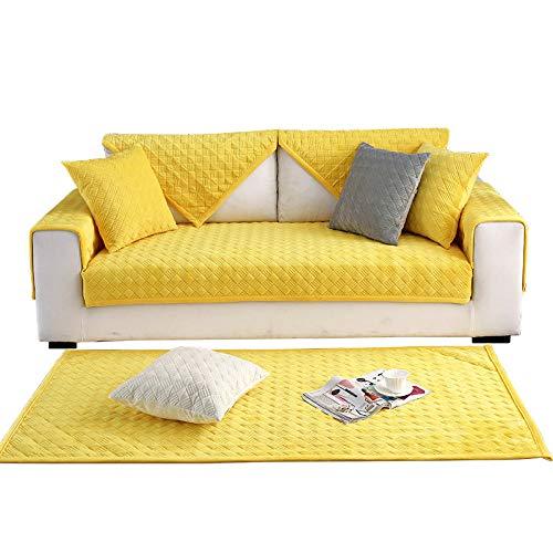 Ginsenget Dicke Sofa uuml berz uuml ge,1/2/3/4-Sitz Uuml berwurf,Sofa Schutz uuml berzug.Couch Bett uuml berwurf,Sofa Handtuch,Armlehne Handtuch,Rückenlehne Handtuch 111,Leuchtend gelb,70X240cm
