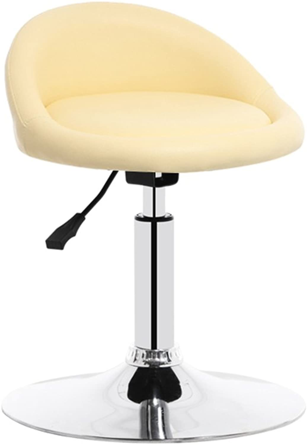 Chair Bar Stools Breakfast Stool Soft Beige PU Leather Computer Chair Study Room Chair (Size   Height 50CM)