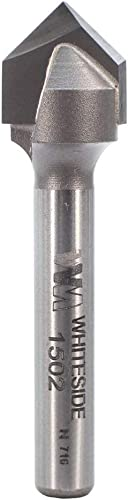 wholesale Whiteside Router Bits high quality 1502 outlet sale V-Groove Bit with 90-Degree 1/2-Inch Cutting Diameter and 1/4-Inch Point Length outlet sale
