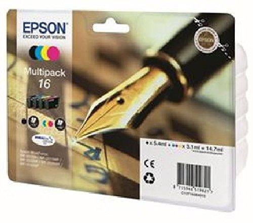 Cartuchos de Tinta Multipack 16DURABrite para WorkForce WF-2010W, WF-2510WF,
