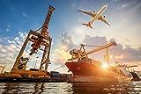 Container Schiff Hafen XXL Wandbild Kunstdruck Foto Poster