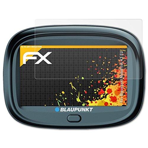 atFoliX Panzerfolie kompatibel mit Blaupunkt MotoPilot 43 EU Schutzfolie, entspiegelnde und stoßdämpfende FX Folie (3X)