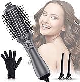 Haartrockner Heißluftbürste, Lovebay 5 in 1 Negativ Ionen Fön, 3 Temperaturen Heißluftkamm, Multifunctional styling comb, Anti Verbrühungs Haartrocknerbürste,Lockenwickler für Alle Haartypen