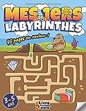 Labyrinthe enfants 3-5 ans: Livre en couleur | Des Labyrinthes d'animaux divertissants | Un livre enfant +3 ans éducatif pour les touts petit | livre d'activités Gato