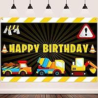 誕生日パーティー用品のHD建設の背景FHZON10x7ftミキサー掘削機おもちゃの車の写真の背景男の子のパーティーケーキテーブルビデオスタジオ小道具 532