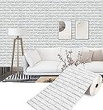 Paneles De Pared De Ladrillo Blanco 3d Paneles De Ladrillo De Imitación Peel And Stick Impermeable Pe Espuma De Espuma Fondo De Pantalla Para La Sala De Estar Dormitorio De La Sa(Size:20m,Color:White)
