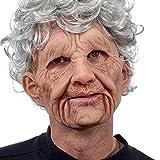 DOUFAN Realistische Latex-Maske des Alten Mannes männliche Verkleidung Halloween-Kostümkopf,...