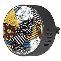 エッセンシャル オイル ベント クリップ用カー ディフューザー、牧削可能な野生の花芸術 ,2 パック 40mm アロマセラピー芳香剤