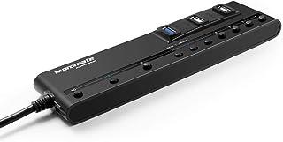 Promate USB Hub, High-Performance Ultra Slim 10 Port USB HUB with 4-Port USB 3.0, 6-Port USB 2.0 with Individual Power Swi...